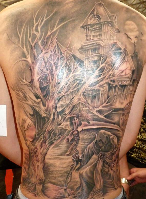 人体刺青纹身彩绘艺术