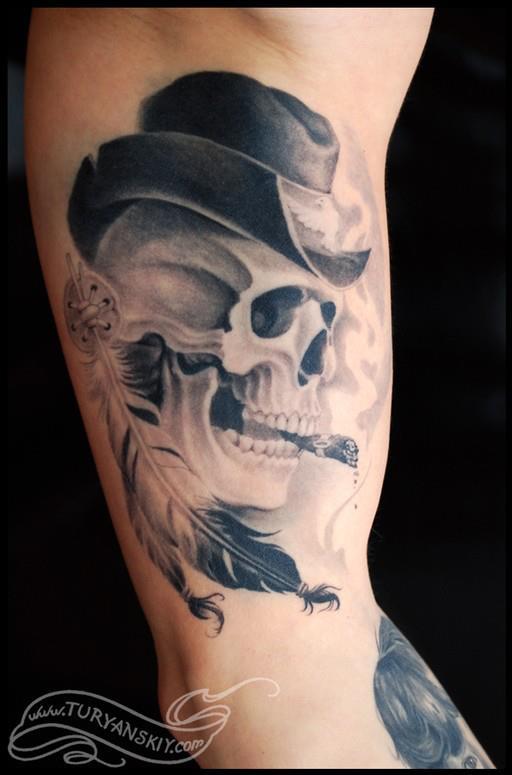 黑笔画纹身花纹分享展示